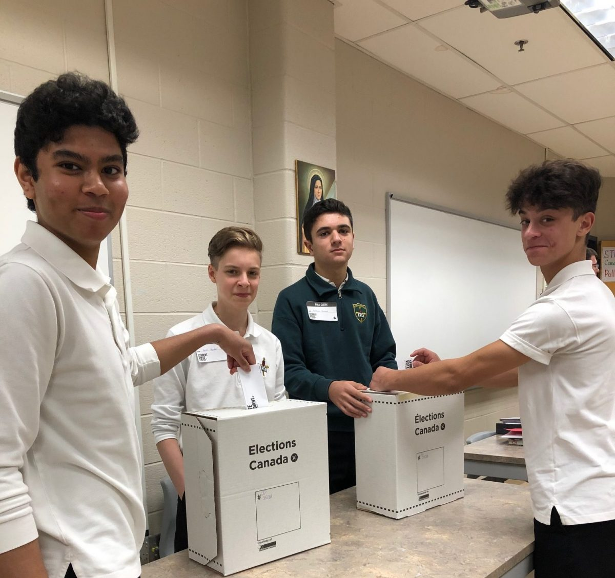 Student Vote 2019:  Civics students cast their ballots
