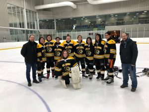 Varsity Girls' Hockey Team Champions – December 19, 2019