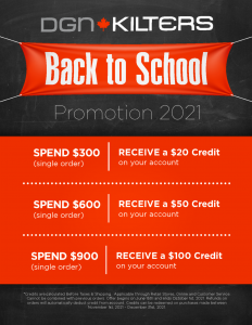 DGN Kilters Back to School Promotion